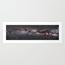 The Milky Way: from Scorpio and Antares to Perseus Art Print