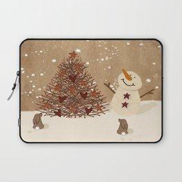 Primitive Country Christmas Tree Laptop Sleeve