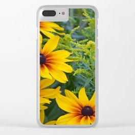 Beautiful rudbeckia flowers Clear iPhone Case