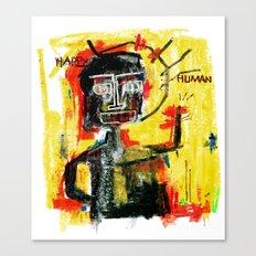 Happy human Canvas Print