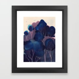 Blue Woodland Framed Art Print
