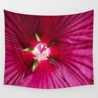 hibiscus Wall Tapestries featuring Hibiscus by Christina Rollo