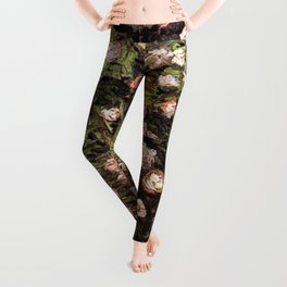 Rosebush in Blossom by Vincent van Gogh Leggings