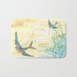 Birds of blue Bath Mat