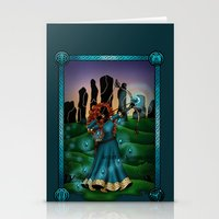 merida Stationery Cards featuring Silhouette Merida  by Katie Simpson a.k.a. Redhead-K