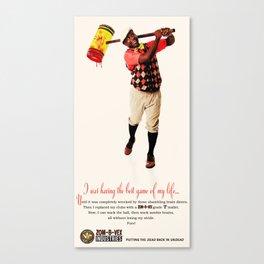 Zom-B-Vex Golfer Canvas Print