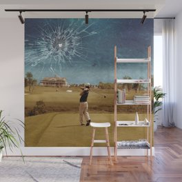 Broken Glass Sky Wall Mural