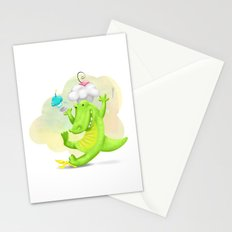 Slippery gator Stationery Cards