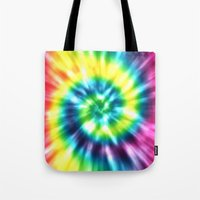 tie dye Tote Bags featuring Tie Dye by Patterns of Life