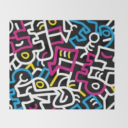 Mazed and Confused Throw Blanket