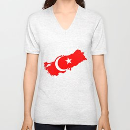 Turk Bayragi Unisex V-Neck