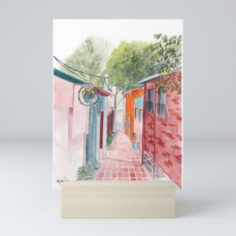 Korean Street Watercolor Illustration Mini Art Print