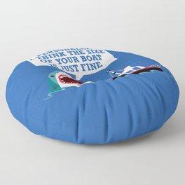 Polite Jaws Floor Pillow