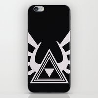 triforce iPhone & iPod Skins featuring triforce by Black