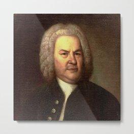 Elias Gottlob Haussmann – portrait of Bach Metal Print