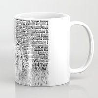 """lovecraft Mugs featuring Story Illustration for """"The White Ship' by H.P. Lovecraft by Robles Art"""