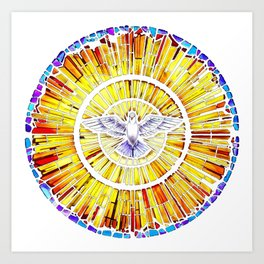 Holy Spirit in Christianity Catholic Church Trinity Sacred, God, Jesus, Bible Art Print