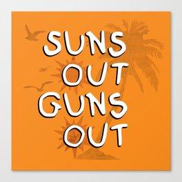 Suns Out Canvas Print