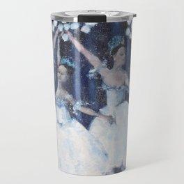 Dance of the snowflakes Travel Mug