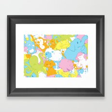 Animal March! Framed Art Print