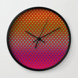 Regenbogenherzen - Rainbow hearts Wall Clock