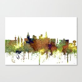 Las Vegas Skyline - Safari Buff Canvas Print