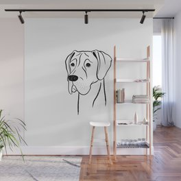 Great Dane (Black and White) Wall Mural