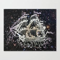 The Great Sky Ship II Canvas Print