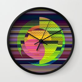 Juxtaposed Circles Wall Clock