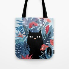 Popoki in Blue Tote Bag