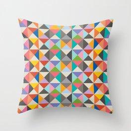 Retro Triangles Throw Pillow