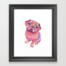 Pugberry Framed Art Print
