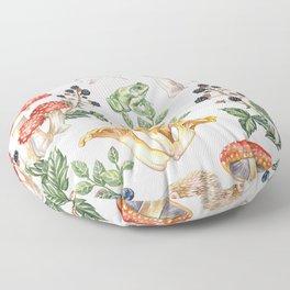 Woodland Mushrooms & Hedgehogs Floor Pillow