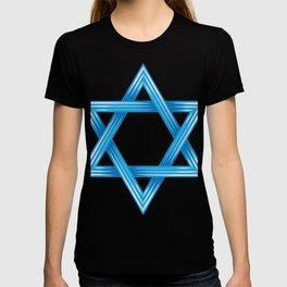 Stylized Blue Star Of David T-shirt