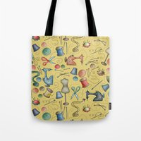 sewing Tote Bags featuring Sewing tools by Catru