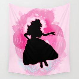 Super Smash Bros. Peach Silhouette Wall Tapestry