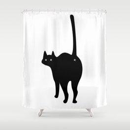 ooo cat Shower Curtain