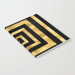 ART DECO SQUARES BLACK AND GOLD #minimal #art #design #kirovair #buyart #decor #home Notebook