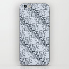 Lace Inspired Elegant Pattern - Navy Blue iPhone Skin