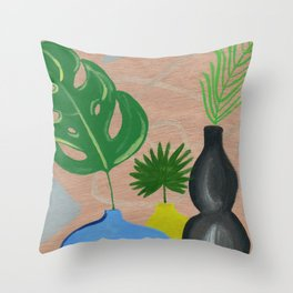 Still Life with Vases Throw Pillow
