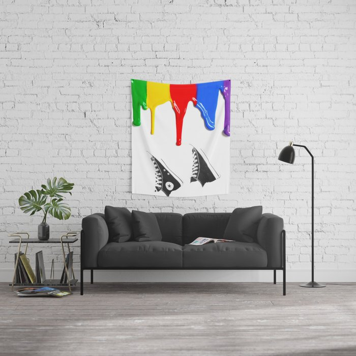 All stars converse Wall Tapestry