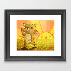 Hula Bear Framed Art Print