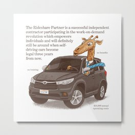 The Rideshare Partner Metal Print