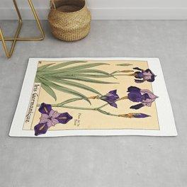Maurice Verneuil - Iris germanique - botanical poster Rug
