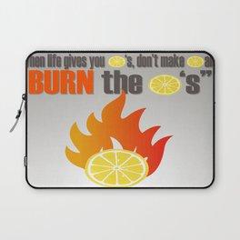 BURN THE LEMONS. Laptop Sleeve