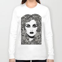 psych Long Sleeve T-shirts featuring psych hair by Blak Hand