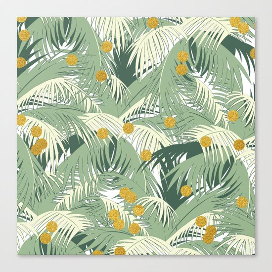 Palm + Gold #society6 #decor #buyart Canvas Print