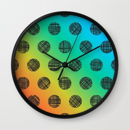 DP037-6 rainbow dotted Wall Clock
