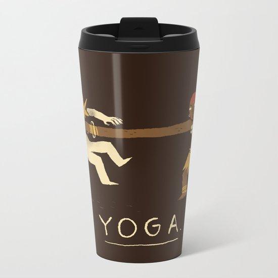 yoga. Metal Travel Mug