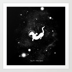 Otter Space Art Print
